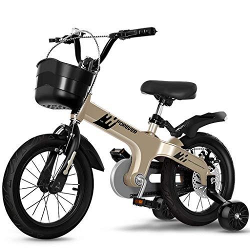 nobrand Handkarren Fahrräder Kinderfahrräder Outdoor-Freizeit-Fahrräder tragbare Motorroller Kleine Magnesium-Legierung Gleichgewicht Bikes 2 10-jährigen Jungen und Mädchen Kinderwagen