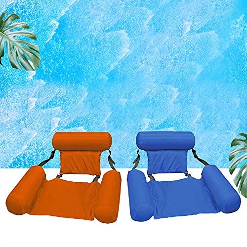 Piscina hamaca portátil plegable hinchable colchón de agua, cama de playa, deportes náuticos, tumbona para adultos y...