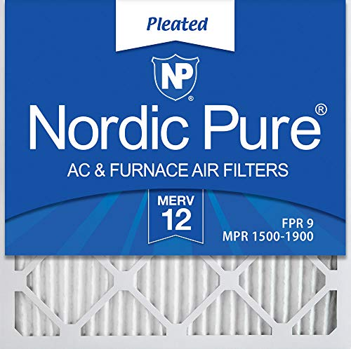 Nordic Pure 16x16x1 MERV 12 Pleated AC Furnace Air Filters 6 Pack