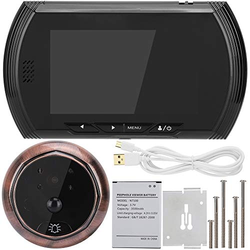 Videodörrklocka, 4,3 tums HD-skärm Smart dörrkamera Videodörrklocksats Hemsäkerhet Videodörrklocka Intercom för hem