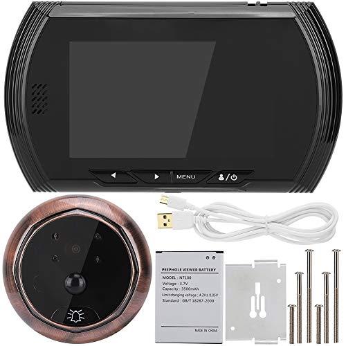 Home Security digitale deurbel, Bewinner 4,3 inch HD-scherm Intelligente videodeurbel, 1,3 MP beveiligingscamera met 140 graden groothoek met PIR bewegingsdetectie