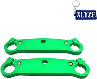 XLYZE Triple Tree Clamps Fork Plate For 47cc 49cc Mini Pocket Bike Cags Mx-3 GP-RSR MTA1 MTA2 A1 A2 A3 (Green)