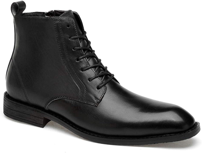IWGR männens Oxford Genuine Genuine Genuine läder Side Zipper kort stövlar for Business Affairs Casual Formal skor  högkvalitativa varor och bekväm, ärlig service