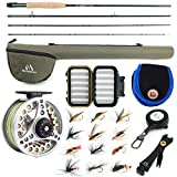 "M MAXIMUMCATCH Maxcatch Extreme Fishing Combo Kit 3/5/6/8 Weight, Starter Rod and Reel Outfit, with a Protective Travel Case (5wt 9'0"" 4pc Rod,5/6 Reel)"