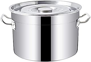 YWH-WH Large Cooking Pot with Lid,Stockpot,Vegetable Pot (Size : 50 * 28cm) (Size : 50 * 28cm)