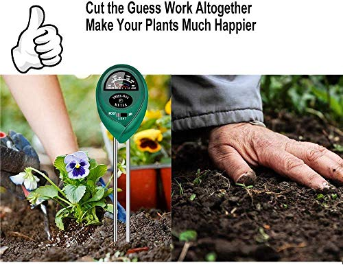 yoyomax Soil Test Kit pH Moisture Meter
