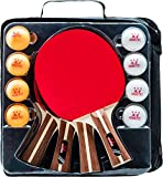 Ping Pong Paddle Set - 4 Wood Ping Pong Paddles - Ergonomic Grip - 8 Tournament Table Tennis Balls - Paddle...