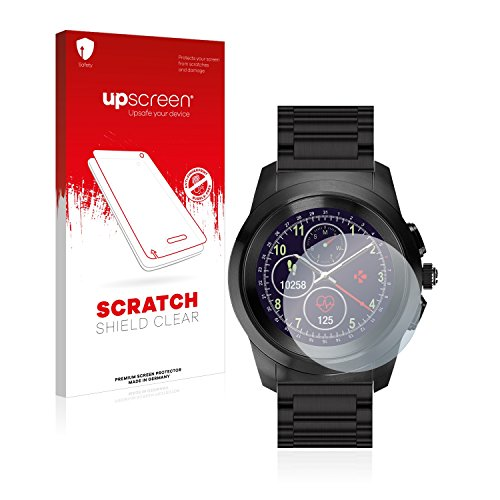 upscreen Schutzfolie kompatibel mit MyKronoz ZeTime Elite Regular (44 mm) – Kristallklar, Kratzschutz, Anti-Fingerprint