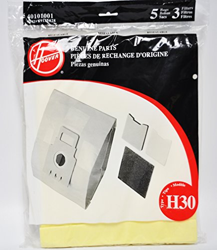 Hoover Type H30 Pack 5 Vacuum Bags 3 Filters 40101001 Colorado