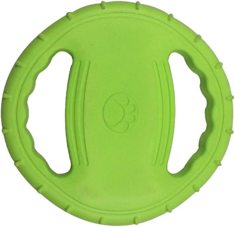Green Dog Frisbee EVA Foam bite Resistant Toys Meet/&sunshine Dog Toy Soft Rubber Interactive Mouth Resistance Pet Puppy UFO Flying Discs