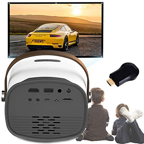 WiFi Mini Projector Portable Video Projector Movie Projector 1080p Hd Home Movie Built-in Speaker with Av/USB/hd/tf/Micro USB/Audio Out Interface for Outdoor