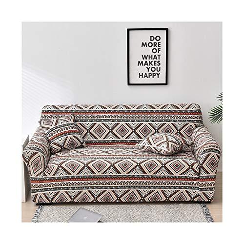 Cubierta de sofá de Estiramiento, sofá elásticos Cubiertas para Sala de Estar, Sofá Muebles Protector Fundas Sofás con Chaise Longue 1pc (Color : Color 32, Specification : 3 Seater 190 230cm)
