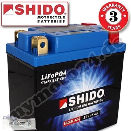 Shido Lithium Motorradbatterie Lifepo4 Ltx12 Bs 12v Auto