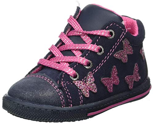 Lurchi Baby-Mädchen BIBI Sneaker, Navy,26 EU