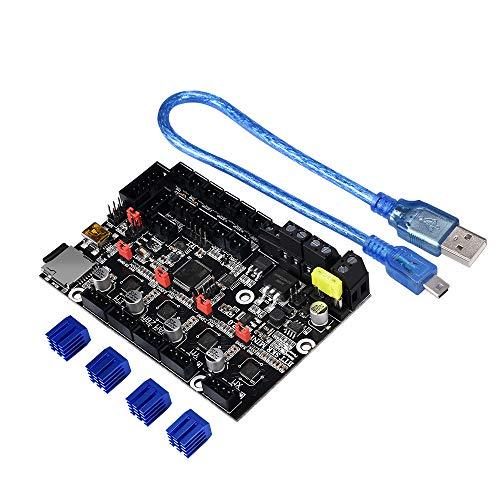BIGTREETECH SKR Mini E3 V2.0 integra la placa de control de 32 bits del controlador 3D TMC2209 UART driver para las partes de la impresora Cheetah de Creality Ender 3