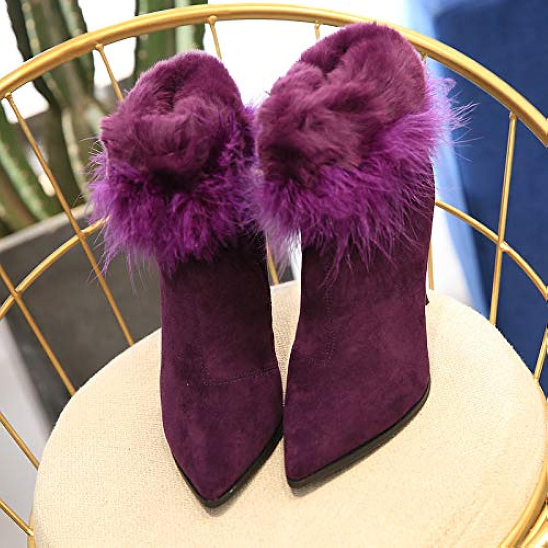 JYSSYLZH's Schuhe Frauen Schuhe Elegante Stiletto High Heel Stiefel Frauen Frauen Frauen Wasser Mink Baumwolle Schuhe Frauen Winter  baadea
