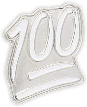 WIZARDPINS 100 Emoji Hundred Percent Symbol Perfect Score Emoticon Enamel Lapel Pin