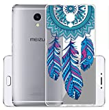 Sunrive Meizu M5S Hülle Silikon, Transparent Handyhülle Schutzhülle Etui Hülle Backcover für Meizu M5S(TPU Traumfänger)+Gratis Universal Eingabestift