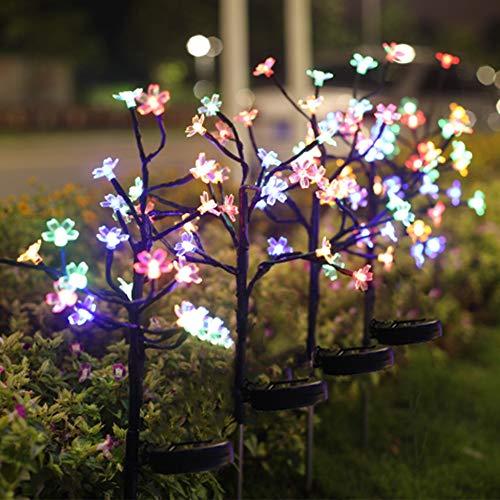 Solar Lights Outdoor Decorative, 4 Pack Solar Garden Lights...