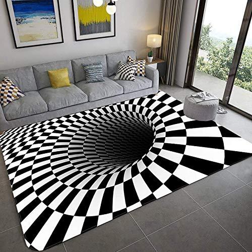 Modernes 3D-Druck Realistische Teppichboden, 3D optischer Illusionsbereich 3d, Weiche Teppich Wohnzimmer Schlafzimmer Non-Rutsch Runnerteppich Wohnkultur Türmatte-A 31x47inch (80x120 cm), d, 20x31inch