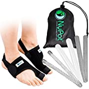 NYPOT Bunion Corrector and Bunion Relief – Big Toe Support, Orthopedic Bunion Splint and Sleeve, Toe Straightener for Women,Bunion Protector, Hallux Valgus corrector, Day/Night Bunions Pain Relief