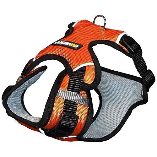 NUMAXES Harnais Sport Coneck'T - M : 69-80cm - Orange - Pour chien