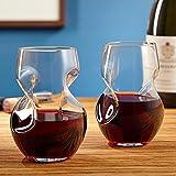 Tourbillon Aerating Stemless 8 oz. Wine Tumbler Set (Set of 2)