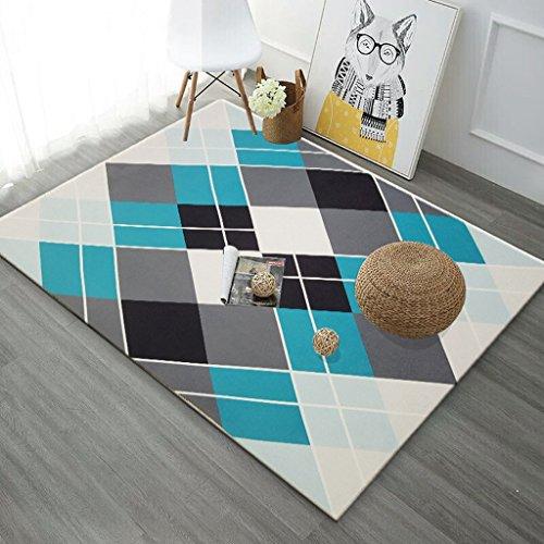 QIAO Nordic geometrische bedrukte woonkamer decoreren tapijt salontafel antislip deur pads vloer matten tapijten
