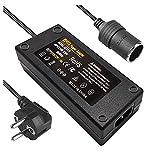BYGD AC à DC Adaptateur 12V 10A 120W, 220V/230V/240V Convertisseur Prise Allume-Cigare de Voiture Adaptateur d'alimentation