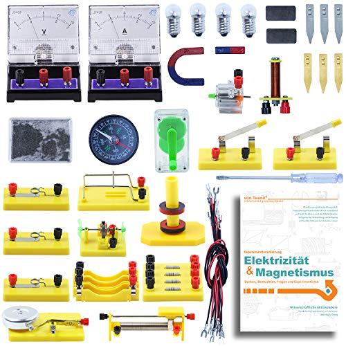 Teenii STEM Physik Elektrizität und Magnetismus experimente Wissenschaftslabor Grundlegende Schaltungslern Starter Kit für Kinder, Junior, Senior High School Schüler Elektromagnetismu