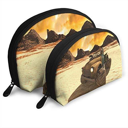 syplog Desert Buggy Tragbare Taschen Clutch Beutel Münze Kosmetik Reise Handtasche Organizer mit Reißverschluss OneBig und OneSmall 2 Stück