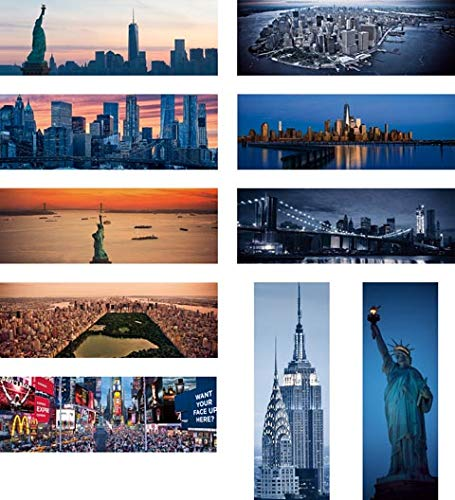 New York Bookmarks Bulk Set of 30. Superior Color Printing Quality on Both Sides on Heavy 14 pt Paper Stock. Our Book Markers are Made in USA.