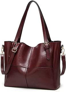LEBOLONG Women Top Handle Satchel Handbags Shoulder Bag PU Leather Tote Purse