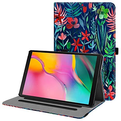 Fintie Hülle für Samsung Galaxy Tab A 10,1 2019 - Multi-Winkel Betrachtung Kunstleder Schutzhülle mit Dokumentschlitze für Samsung Tab A 10.1 Zoll SM-T510/T515 2019 Tablet, Dschungelnacht