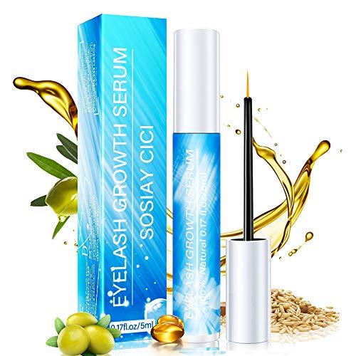 Serum Pestañas & Cejas Crecimiento De Pestañas - Tratamientos Para Pestañas, 100% Natural, Rico en Vitamina E, Alargador De Crece Pestañas (5ml)
