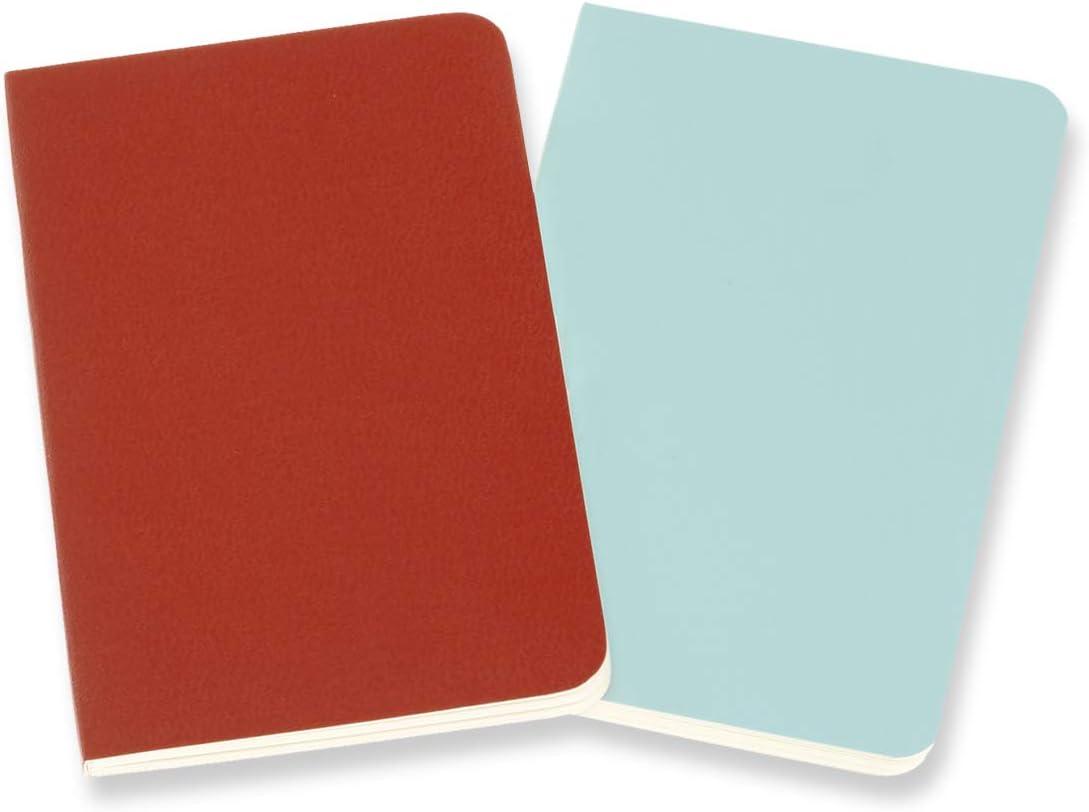 Moleskine QP701F16B24 Cuadernos de rayas volantes XS Coral Orange//Aqua Blue