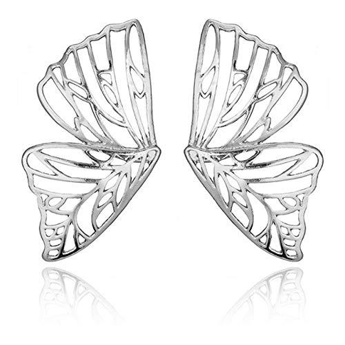 WFSDKN Oorbellen, 2 paar, hol, grote vlinder, oorbellen, voor vrouwen, metaal, engel, vleugels, hangers, oorbellen, decoratie, sieraden, kerstcadeau