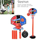 Ensemble de support de basket-ball pour enfants, support de basket-ball de levage mobile extérieur pour...