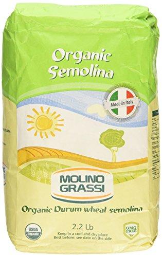 MOLINO GRASSI Organic Italian Semolina Flour, 35.2 OZ