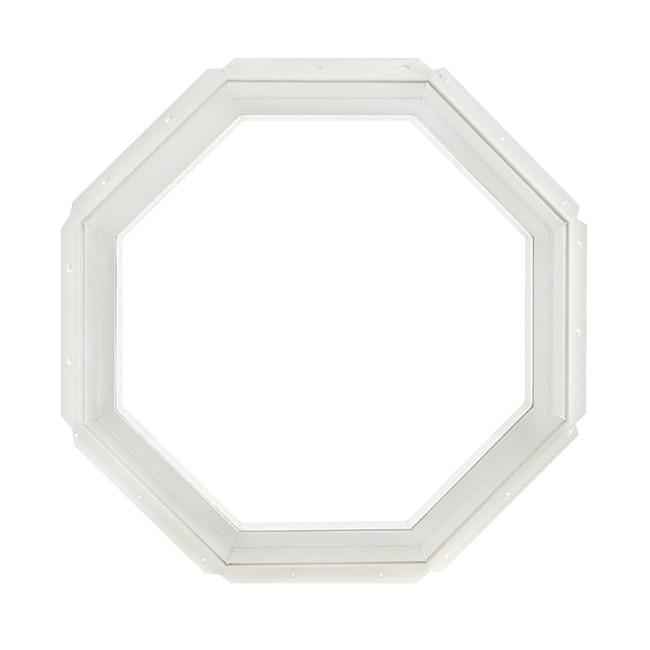 Park Ridge Vinyl Octagon Fixed Window with Insulated Clear Glass, 22