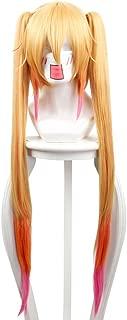 Miss Kobayashi's Dragon Maid Tohru Cosplay Wig Bunches Gradient Color Orange Hair