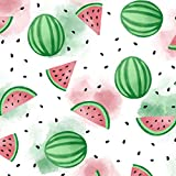 GRAPHICS & MORE Watercolor Watermelons Pattern Premium Roll Gift Wrap Wrapping Paper