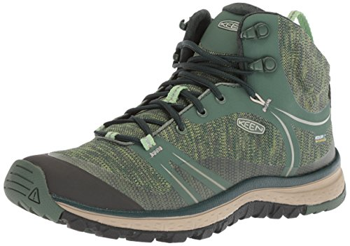 KEEN Women's Terradora Mid Wp-w Hiking Boot, Duck Green/Quiet Green, 9 M US