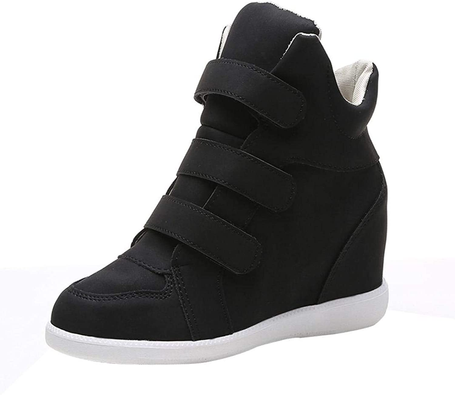 Lady Sport Fashion Women Round Toe Boots Casual Party Wedges shoes Comfortable Gym Fitness Breathable Leisure Elegant Soft Wild Tight Super Quality for Womens