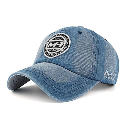 cappello q4 CappelloUomo Berretto Berretto da Baseball di Alta qualità Cappellino da Baseball Cappello Ricamo Jean Badge Cappello per Uomo Donna Berretto Grigio