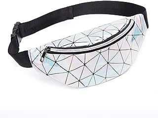 Coromose Waist Bag Ladies Outdoor Summer Sports Lightweight Waist Bag Silver
