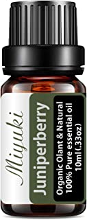 Miyuki Juniper Berry Essential Oil Organic Plant & Natural 100% Pure Therapeutic Grade Aromatherapy Juniper Berry Oil for ...