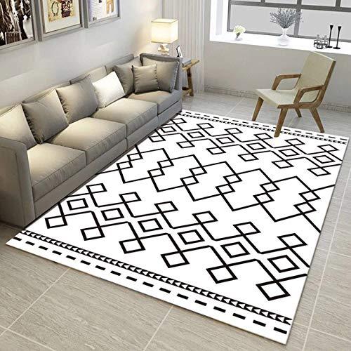 LFDDT Creative Maze Nordic Art Geometry Tapijt Voor EEN Woonkamer Slaapkamer Antislip Vloermat Modus Keuken Tapijt Gebied 50 x 80cm 06