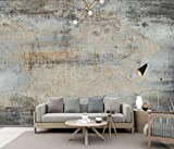 Papel Pintado Pared 3D Fotomurales Dibujado A Mano Abstracto Cemento Vintage Cafe Murales 3D Papel Tapiz Decorativos Wallpaper,300cmX210cm