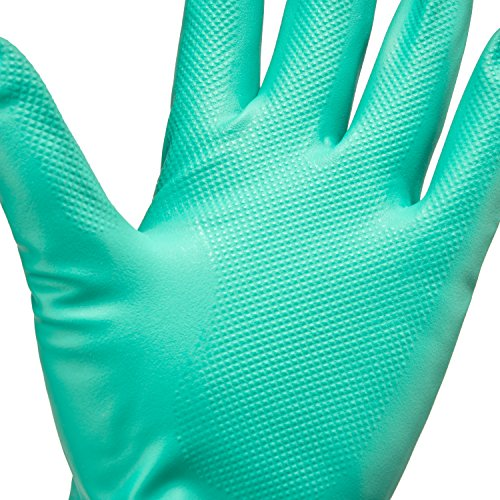 Tusko Products Best Nitrile Rubber Cleaning, Household, Dishwashing Gloves, Latex Free, Vinyl Free, Reusable not Disposable, Large L (1 Pair)